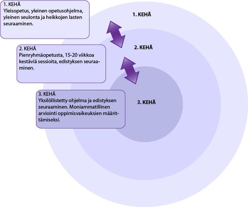 Oppimisen kehät Fuchsin ja Fuchsin (2007) mukaillen
